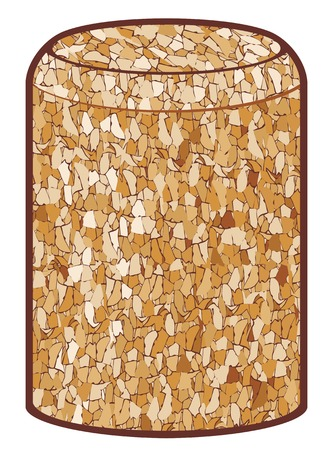cork: wine cork vector illustration