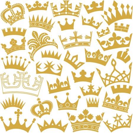 couronne royale: vecteur seamless couronne de fond sans soudure avec la couronne