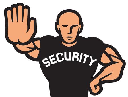 guardia de seguridad: hombre de seguridad de la guardia de seguridad del club nocturno de la discoteca, gorila