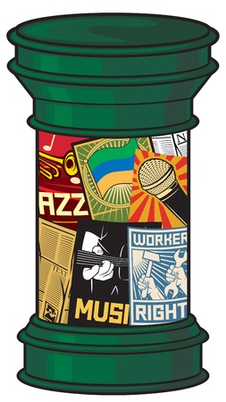 pillar: advertising pillar advertising column Illustration