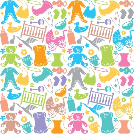 seamless pattern with baby icons seamless pattern with baby elements