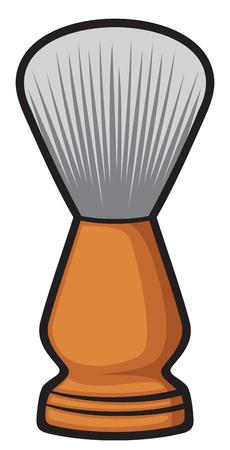 pubescent: shaving brush barber brush Illustration