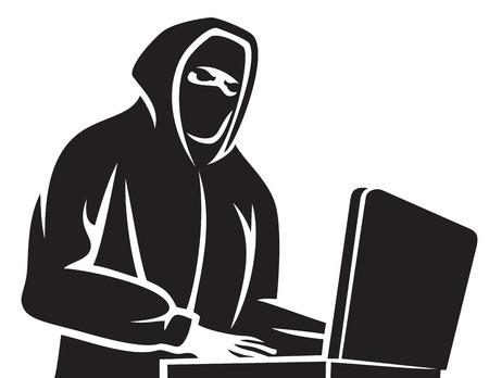 data theft: computer hacker icon