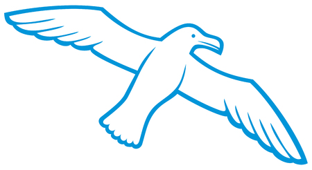 wing span: white seagull seagull icon, flying seagull