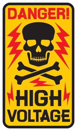 voltage sign: danger high voltage sign high voltage symbol