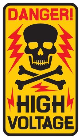 alto: signo de alta tensión peligro símbolo de alta tensión