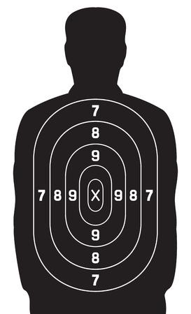black human target shooting target  イラスト・ベクター素材