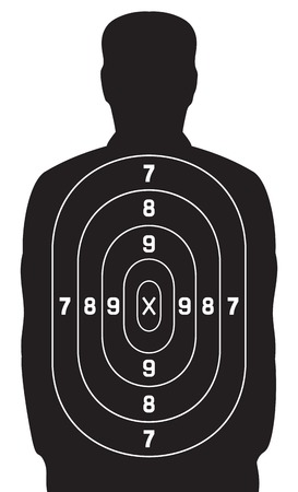 black human target shooting target Vectores