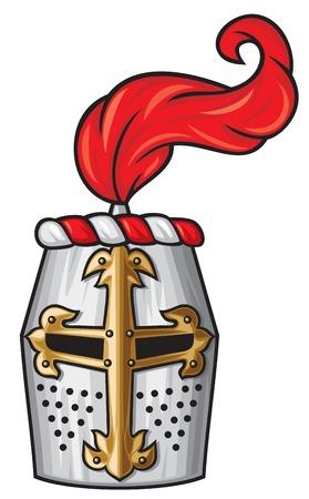 crusades: medieval knight helmet