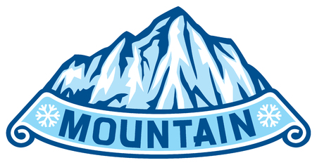 range: mountain landscape label snowy mountain range