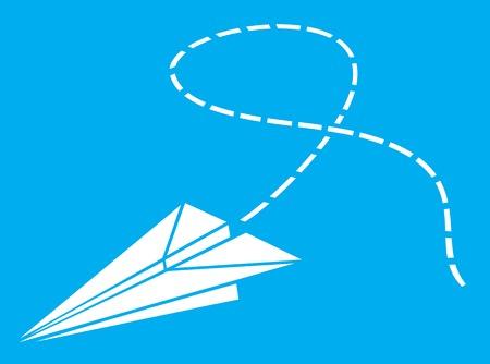 flight: paper plane paper airplane