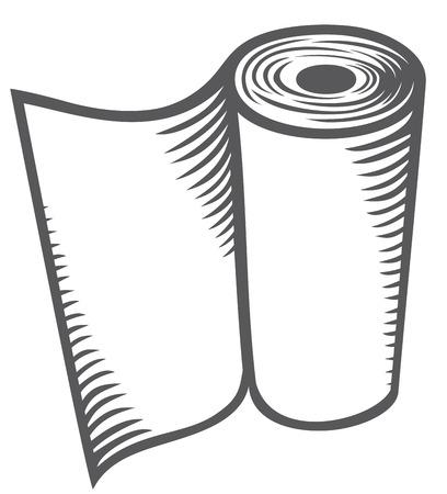 Papierhandtuch Küchenpapierrolle, Handpapierhandtücher Rolle Vektorgrafik