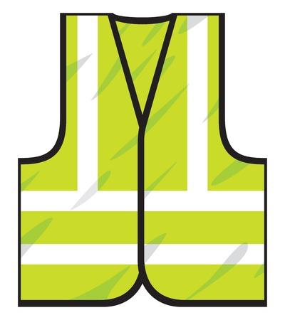chaleco verde Ilustración de vector