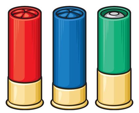 fusil de chasse: obus de fusil de chasse Illustration