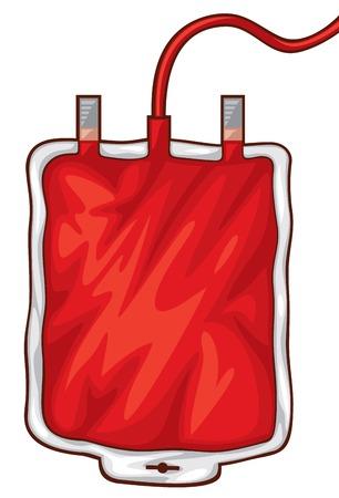 transfuse: illustration of a blood bag a blood donation bag