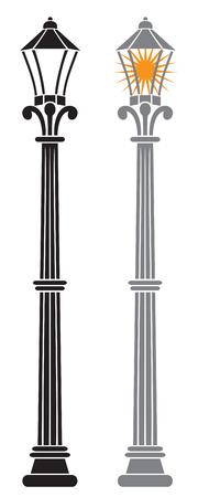 lamp posts: street light street lamps, street lantern Illustration