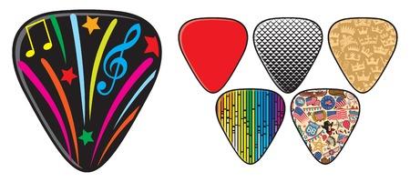 picks: guitar picks or plectrums