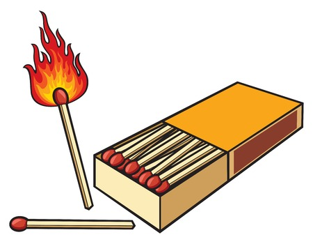 matchbox and matches safety matches and matchbox Stok Fotoğraf - 47946210