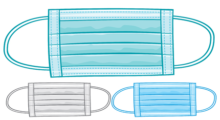 protective: medical mask surgical mask Illustration
