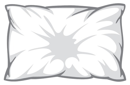 headboard: white pillow
