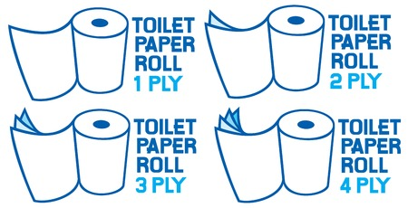 ply: rolls of toilet paper toilet paper rolls - 1 ply, 2 ply, 3 ply and 4 ply