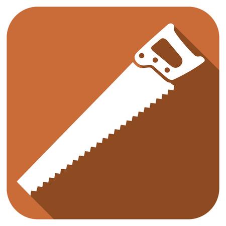 carpentry cartoon: Hand saw  flat icon