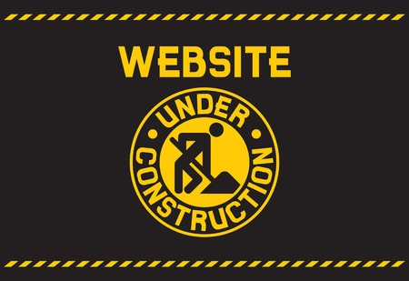 website under construction background under construction template Ilustração