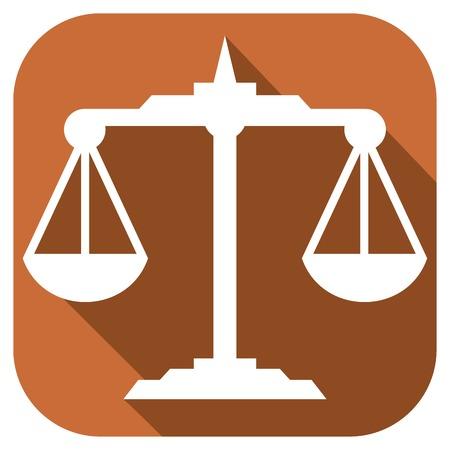 delincuencia: escalas icono plana escalas signo del zodiaco Vectores