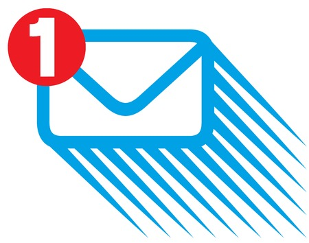 incoming: message notification icon incoming mail notification, new mail symbol