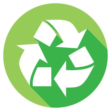 recycle icon: recycle symbol flat icon