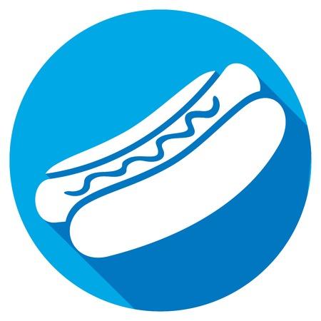 catsup: hot dog flat icon