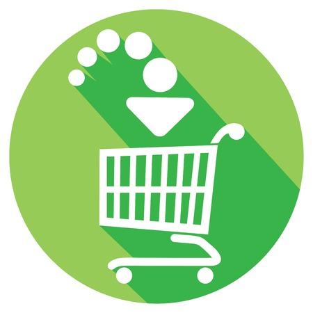 klik: voeg toe aan winkelwagen flat icon