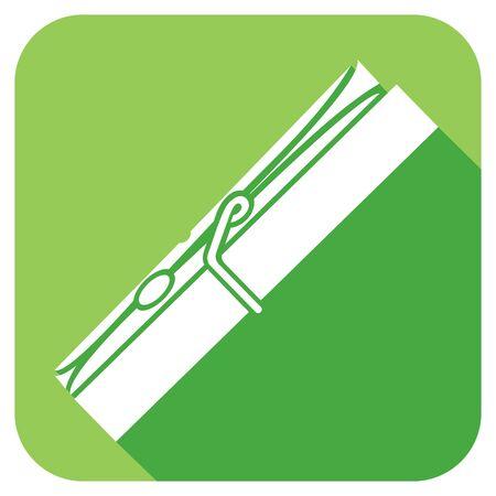 hang up: clothespin flat icon