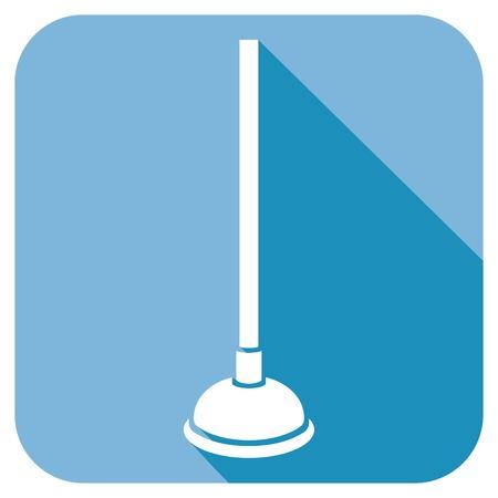 plunger: plunger flat icon