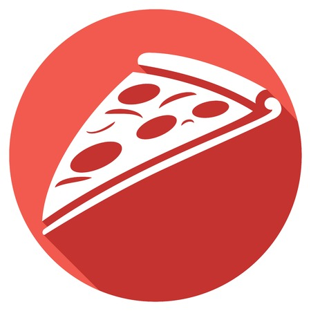 order: pizza slice flat icon