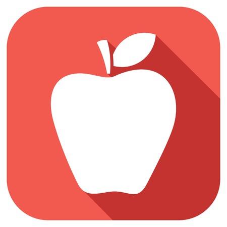 fruited: apple flat icon