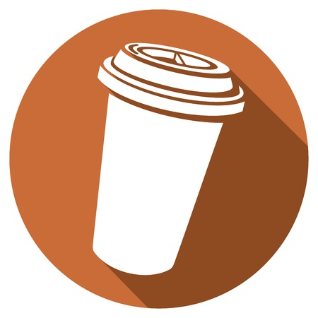 takeout: paper cup of coffee flat icon take-out coffee, coffee in takeaway cup