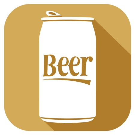 can: beer can flat icon