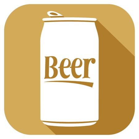 bebida: lata de cerveja  Ilustração
