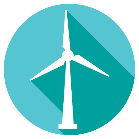 wind power: wind turbine flat button icon wind driven generators sign, windmill symbol, wind turbine renewable clean power generator, modern windmill sign
