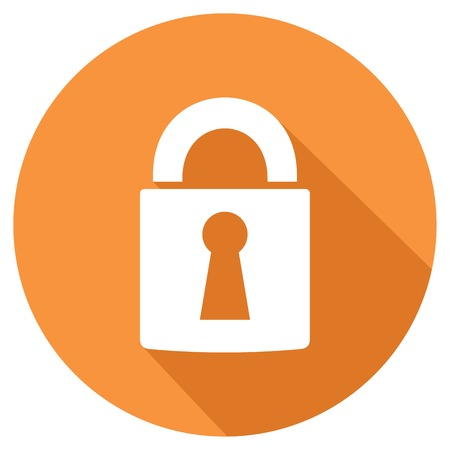 icône de cadenas plat