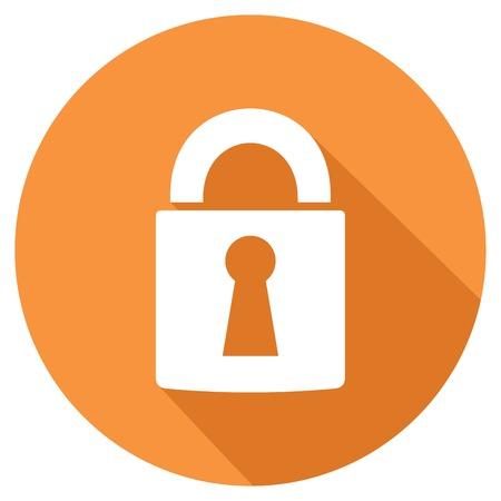 padlock icon: padlock flat icon