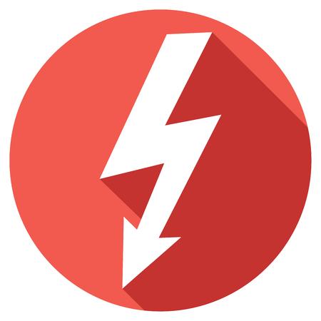 electric shock: lightning bolt flat icon