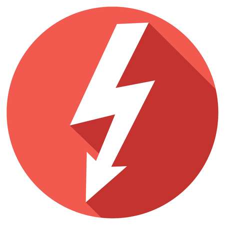 electric shock: rayo icono plana Vectores