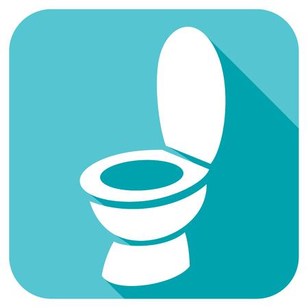 bathroom cartoon: toilet bowl flat icon