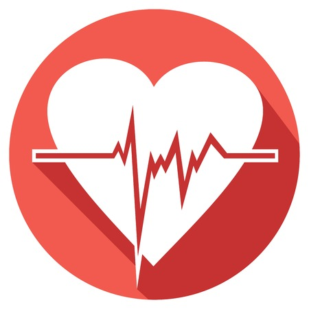 heart beats flat icon