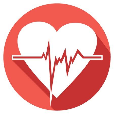 heart beats flat icon