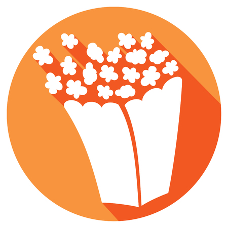 buttered: popcorn flat icon