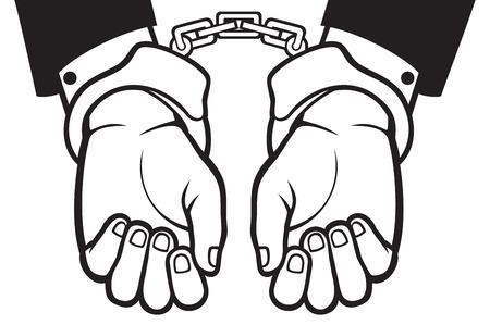 hands in: hands in handcuffs (man hands with handcuffs)