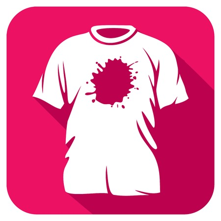 dirty t shirt: stains on t-shirt flat icon (dirty t-shirt flat icon)